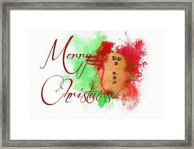 Ginger Bread Christmas Framed Print