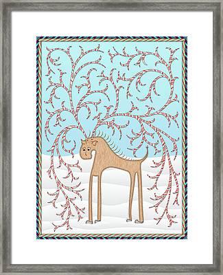Ginger Cane Framed Print by Becky Titus