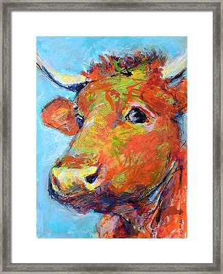 Framed Print featuring the painting Ginger Horn by Mary Schiros