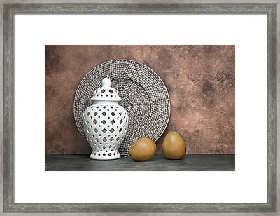 Ginger Jar With Pears I Framed Print by Tom Mc Nemar