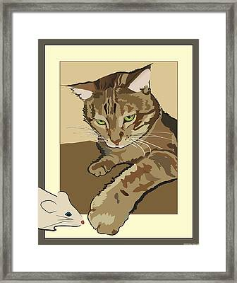 Ginger Peach Bengal Kitty Framed Print