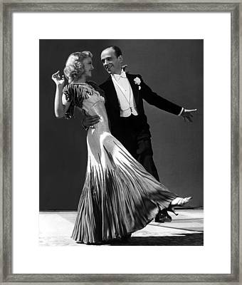 Ginger Rogers And Fred Astaire  Framed Print by American School