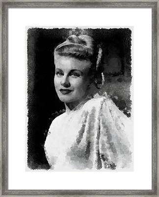 Ginger Rogers Framed Print by Esoterica Art Agency