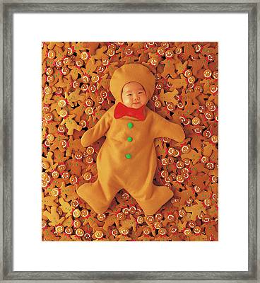 Gingerbread Baby Framed Print by Anne Geddes