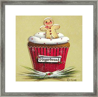 Gingerbread Cookie Cupcake Framed Print by Catherine Holman