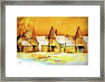 Framed Print featuring the painting Gingerbread Cottages by Valerie Anne Kelly