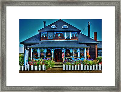 Gingerbread House Framed Print by Helen Carson