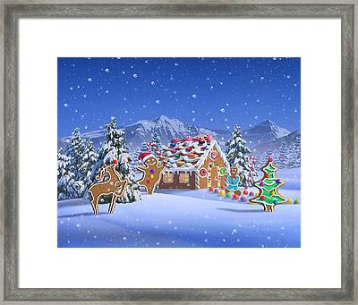 Gingerbread House Framed Print