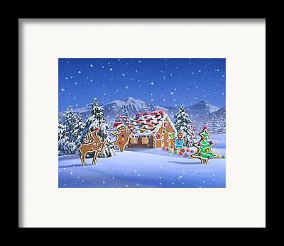 North Pole Framed Prints