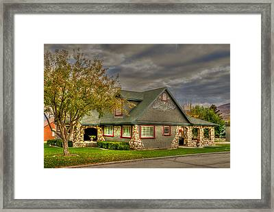 Gingerbread House Framed Print by TL  Mair