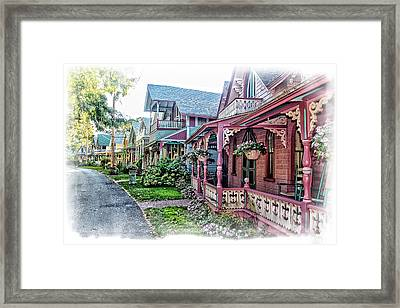 Gingerbread Row Framed Print