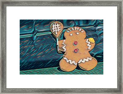 Framed Print featuring the photograph Gingerbread Tennis Girl Remix by Dan McManus
