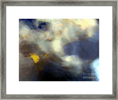 Ginkgo Leaf In Puddle Framed Print by Dale   Ford