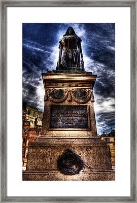 Giordano Bruno Framed Print by Brian Thomson
