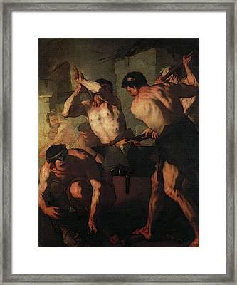 Giordano Luca The Forge Of Vulcan Framed Print
