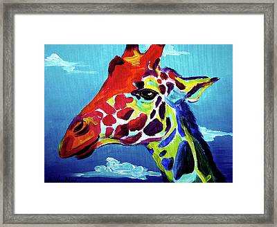 Giraffe - The Air Up There Framed Print by Alicia VanNoy Call