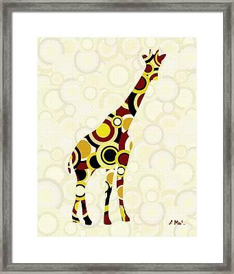 Giraffe - Animal Art Framed Print