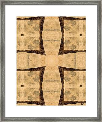Giraffe Cross Framed Print