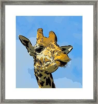 Giraffe Framed Print by Gareth Davies