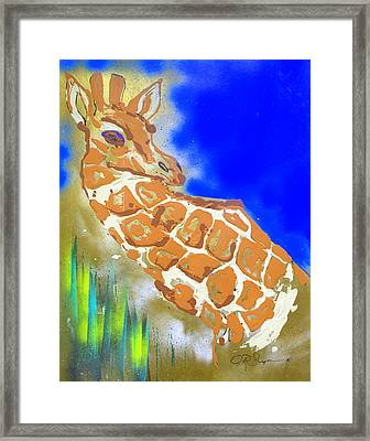 Giraffe Framed Print by J R Seymour