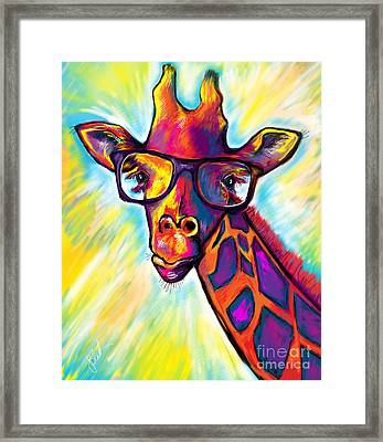 Giraffe Framed Print by Julianne Black