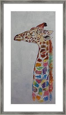 Giraffe Framed Print by Michael Creese