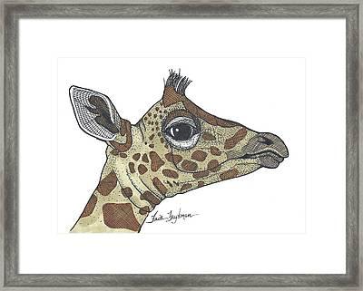 Giraffe, Profile Framed Print