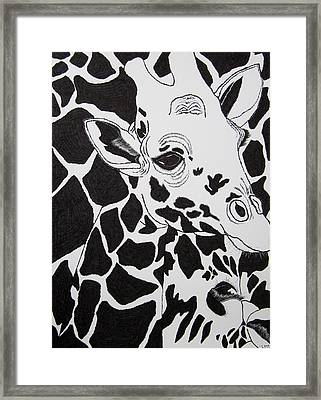 Giraffe World Framed Print by Jungsu Lim