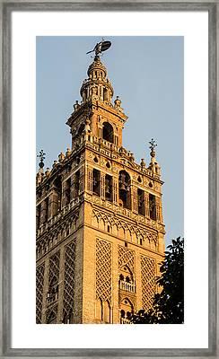 Giralda At Sunset - Seville Framed Print by Andrea Mazzocchetti