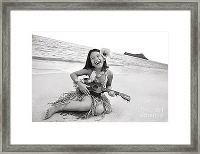 Girl And Her Ukulele Framed Print by Brandon Tabiolo - Printscapes