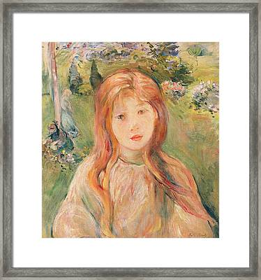 Girl At Mesnil Framed Print