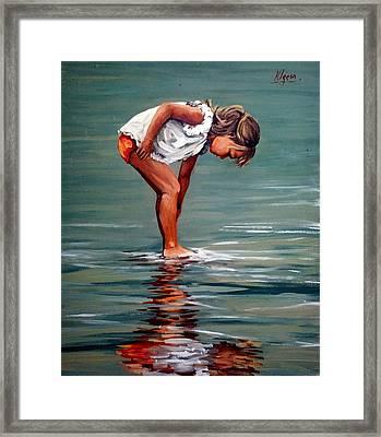 Girl At Shore  Framed Print