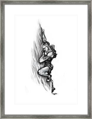 Girl Climber Framed Print