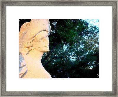 Girl Enjoys Sunrise Framed Print