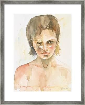 Girl Framed Print by Eugenia Picado