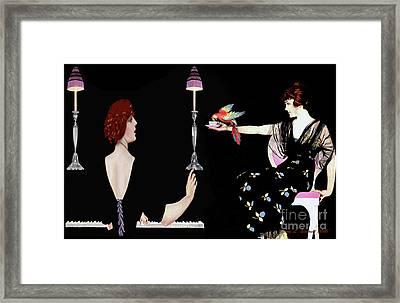 Girl Friends Framed Print by Jerry L Barrett