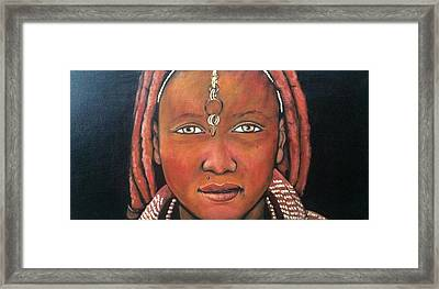 Girl From Africa Framed Print by Jenny Pickens