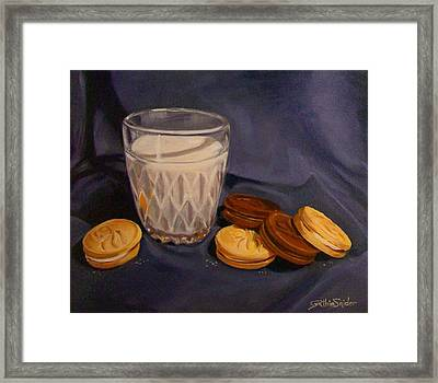 Girl Guides And Milk Framed Print by Cynthia Snider