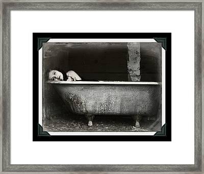 Girl In A Bath Tub  Framed Print by Pamela Patch