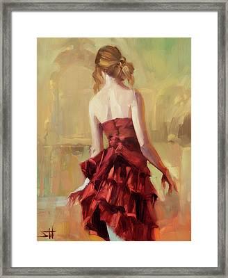 Girl In A Copper Dress II Framed Print