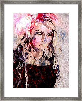 Girl In A Red Dress Framed Print by Mark Taylor