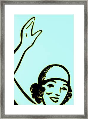 Girl In Blue Framed Print by John Gusky