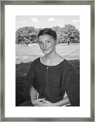 Girl In Civil War Dress Framed Print by William Morris