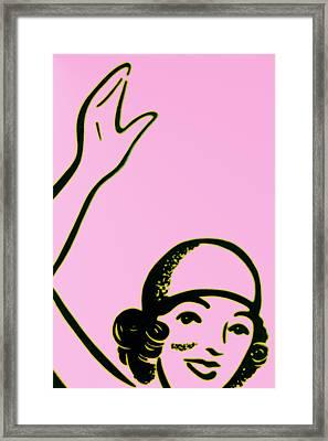 Girl In Pink Framed Print by John Gusky