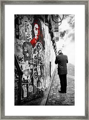 Framed Print featuring the photograph Girl In Red by Anthony Citro