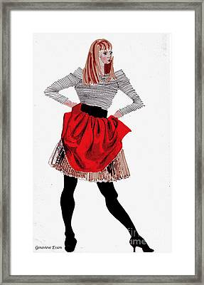 Girl In Red Skirt Framed Print by Genevieve Esson