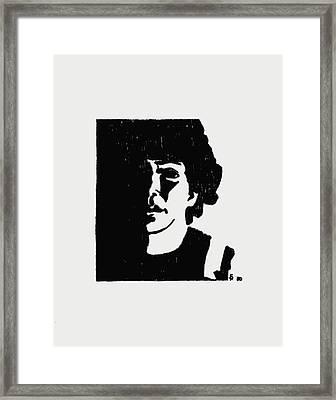 Girl In Shadow Framed Print by Sheri Buchheit