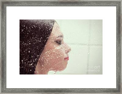 Girl In Splash Framed Print by Aleksey Tugolukov