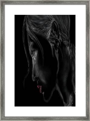 Girl In The Shadows Framed Print