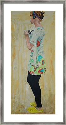 Girl In The Yellow Shoes Framed Print by Kevin Callahan